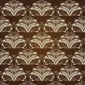 Beige vintage pattern on a brown background — Stock Vector