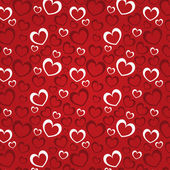 Red background with hearts for a Valentine day — Stockvector