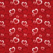 Red background with hearts for a Valentine day — Stock Photo