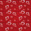 Stock Photo: Red background with hearts for a Valentine day