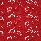 Rode achtergrond met hart voor een dag van de valentijnskaart — Stockfoto