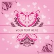 Pink vintage patterns on Valentines day card — Stock Photo