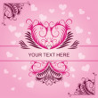 Pink vintage patterns on Valentines day card — Stock Photo #18393433