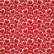 Red background with white hearts — Stock Photo