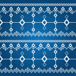 Ornament of white rhombuses (seamless pattern) — Stock Photo