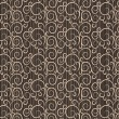 Vintage floral pattern on a brown background — Stock Photo