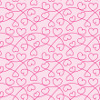 Stock Photo: Seamless texture of hearts for a Valentine day