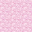Seamless texture of hearts for a Valentine day - Stock Vector