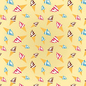 Colorful texture of ice creams on a beige background — Stock Photo