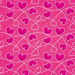 Texture for a Valentine day with pink hearts and vintage pattern — Stock Photo #18735385