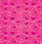 Texture for a Valentine day with pink hearts and vintage pattern — Stock Photo