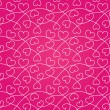 Pink seamless texture of hearts for a Valentine day — Stock Vector #18735277