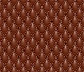 Seamless texture volumétrique du cher en cuir marron — Vecteur
