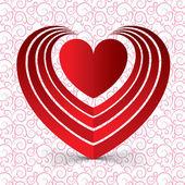 Cartão de dia dos namorados com coração vermelho conceitual — Fotografia Stock
