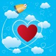 Royalty-Free Stock : Valentines day card with hearts, arrow and bullet