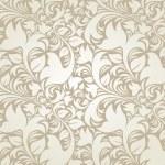 PrintSeamless floral beige background — Stock Photo