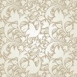 Seamless floral beige background — Stock Vector #19140479