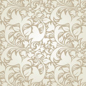 Seamless floral beige background — Stock Vector