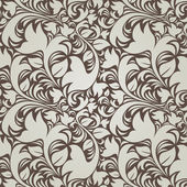 Dark vintage floral background (seamless) — Foto de Stock