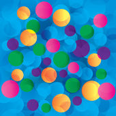 Colorful circles abstract light background — Stock Photo