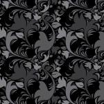 Floral vintage dark gray background. Black color. — Stock Vector #19362745