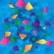 Colorful abstract background with rectangles - Векторная иллюстрация