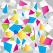 Light colorful abstract background with geometrical figures - Векторная иллюстрация