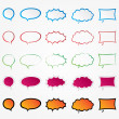 Colorful comic speech bubbles set (collection) — Stock Photo