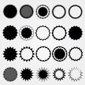 黑色的价格标签集合。不同的样式. — 图库照片