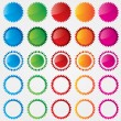 Colorful price tags collection (sale) — Foto Stock