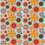 Seamless texture coloré avec fleurs volumétriques — Photo