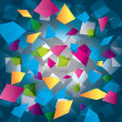 Colorful abstract background with rectangles — Stock Photo #20616653
