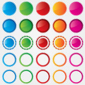 Colorful price tags collection (sale) — Stock Photo