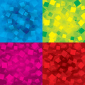 Colorful abstract backgrounds set with rectangles — Stock Vector