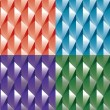 Colorful abstract backgrounds set (geometrical) — Stock Photo