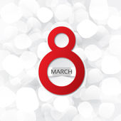 8 march card on abstract white background — 图库照片