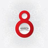 8 марта-женский день карта с узором — Стоковое фото