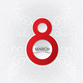 8 march Women's Day card with pattern — Stok fotoğraf