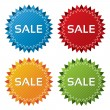 Royalty-Free Stock Vector: Colorful sale tags collection. Icons set (vector).
