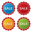 Royalty-Free Stock Vector Image: Colorful sale tags with texture collection