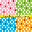 Happy easter colorful eggs seamless textures — Stock Vector