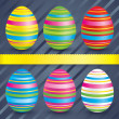 Easter colorful eggs (collection). — Stock Photo