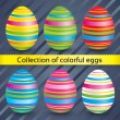 Easter colorful eggs (collection). Vector set. — Stock Vector