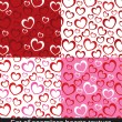 Seamless vector pattern with colorful hearts. — Stock Vector