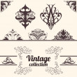 Royalty-Free Stock Vector Image: Vector set: vintage calligraphic design elements.