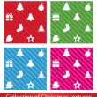 Seamless christmas texture pattern. Vector set. — Stock Vector