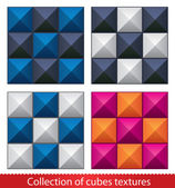Seamless vector abstract cubes pattern. — Stock Vector