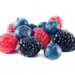 Fresh blueberries, raspberries and blackberries — Stock Photo #25197741