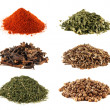 Spice heap collection isolated on white background — Stock Photo #26056423