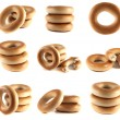 Bagels collection isolated on white background. — Stock Photo #26057243